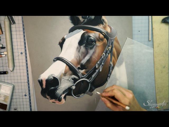 Реалистичная пастель. Рисуем Лошадь.