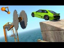 - Giant Saw Against Cars Crashes 3