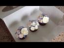 Фарфоровые капкейки! Цветы из крема Buttercream flowers