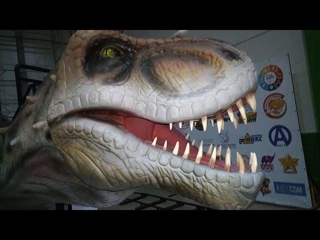 Динозавр Аттракцион Огромный Динозавр Big Dinosaur | Video for Kids