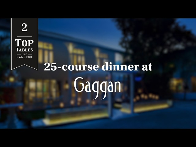 Top Tables 2017 2nd Place: Gaggan