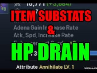 Lineage 2 Revolution ADVANCE Gameplay Fiz Walkthru 32: Item Substats & HP DRAIN