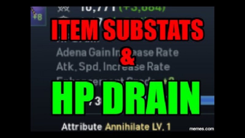 Lineage 2 Revolution ADVANCE Gameplay Fiz Walkthru 32: Item Substats HP DRAIN