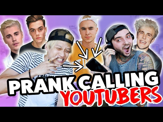 PRANK CALLING PEOPLE BUT WE CAN'T HEAR THEM (Justin Bieber, Grayson, Jake Paul, Banks, Kian Jc)