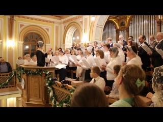 15 апреля 2017 года. Суббота. МЦЦ. Вечернее богослужение. Хор поёт о воскресении Иисуса Христа