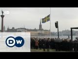 В Стокгольме минутой молчания почтили память жертв теракта