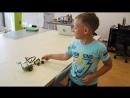 Ваня рассказывает о роботе, которого собрал из Lego WeDo 2.0. Слобода IT.