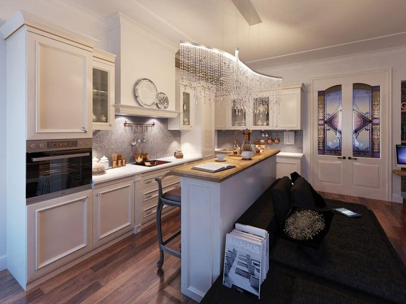 Проект квартиры-студии 45 кв.