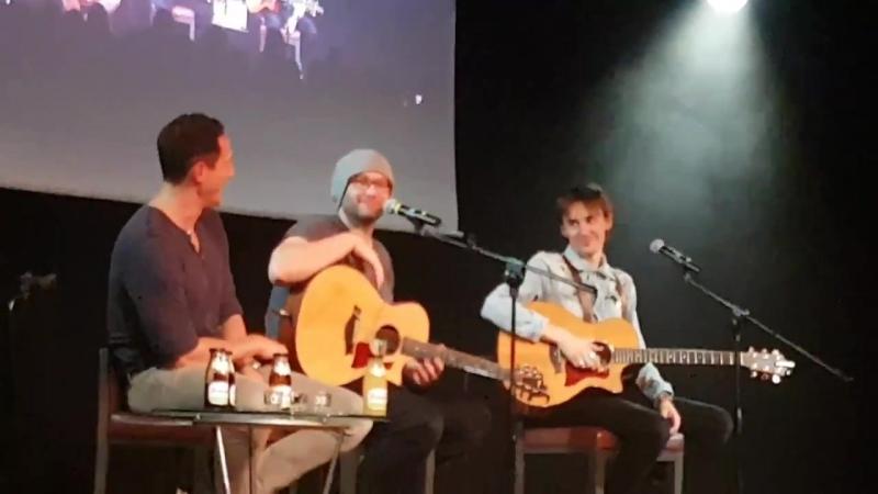 Sasha Roiz, Jason Manns and Reeve Carney concert Jibland 2017