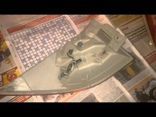 Тонировка стопов и установка габаритов в задние фонари Хонда Инсайт Honda insight