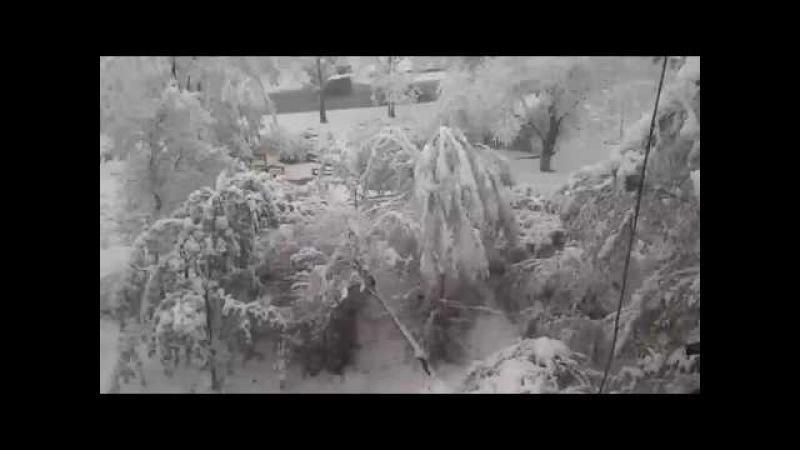 20 апреля 2017 В Молдове вернулась зима Снегопад Выпал снег Погода Кишинев