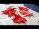 DIY How to make paper flower Autumn leaf by crepe paper Làm lá phong giấy nhún