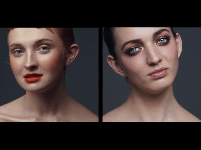 Практическая часть курса по визажу Д. Холодных Цветовые контрасты в макияже на...
