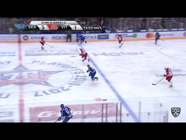 Моменты из матчей КХЛ сезона 16/17 • Гол. 6:1. Патрик Херсли (СКА) мощно щёлкул по воротам 23.02