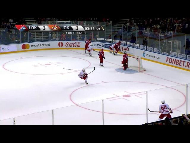 Моменты из матчей КХЛ сезона 16/17 • Гол. 3:4. Брайан ОНилл (Йокерит) оформил дубль 27.08