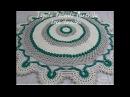 Tapete Redondo Maravilha em Crochê 💚(Para Destro) LenaCrochês artecomeuroma