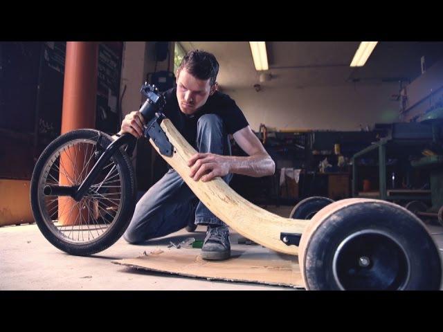 Building WORLDS FIRST REAL OAKEN WOOD Drift Trike