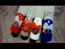 Новогодние шарики и Лепка Бант Объемный дизайн ногтей