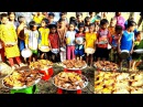 100 Whole Chicken Roast Cooking By Women Serve To 300 Kids Villagers To Celebrate New Year