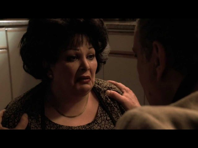 The Sopranos Johnny catches his wife eating sweets HD