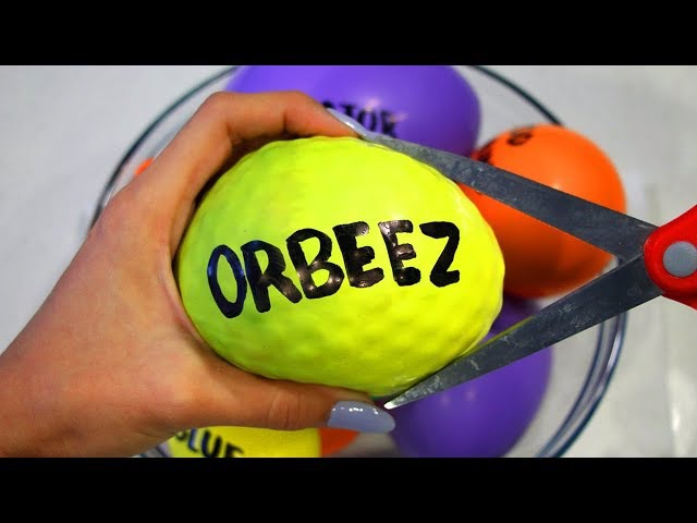 How to Make ORBEEZ BEADOS Play Foam Slime with Balloons Satisfying Stress Ball Cutting Video 4