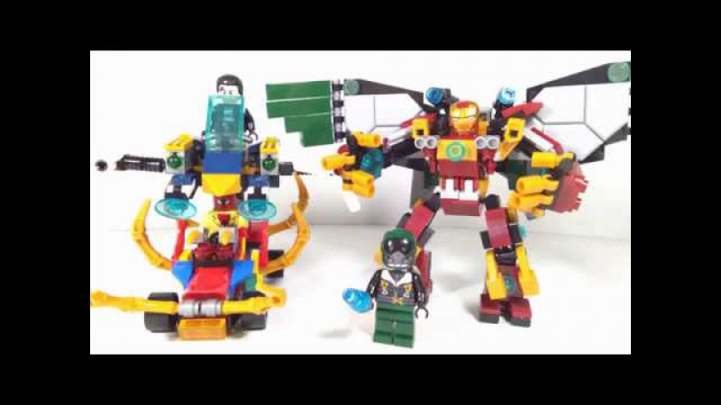 Lego Spider Man Homecoming set w/ Hulkbuster, Vulture and Spiderman car - Lego Knock-off