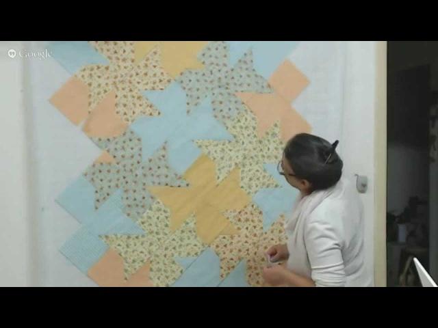 Patchwork Ao Vivo 31: Tessellation Quilt em uma manta para bebê