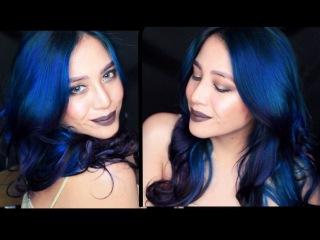 DARK BLUE OMBRE | RAINBOWHEAD | MANIC PANIC | JESSICA GODINEZ