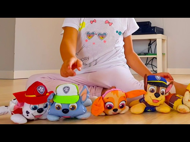 Fun time for kids Cute baby Alisa play with PAW PATROL TOYS ABC song for children