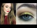 Новогодний макияж золотые тени и красные губы видео урок пошагово