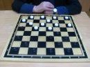 В комнате закрылись Алина и Антон и сыграли в шашки на желание. Белыми играла Алина, а чёрными играл Антон. В результате
