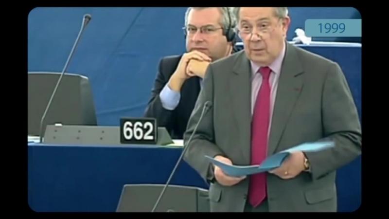 Démocratie Européenne Pasqua se fait censurer en plein direct au parlement européen