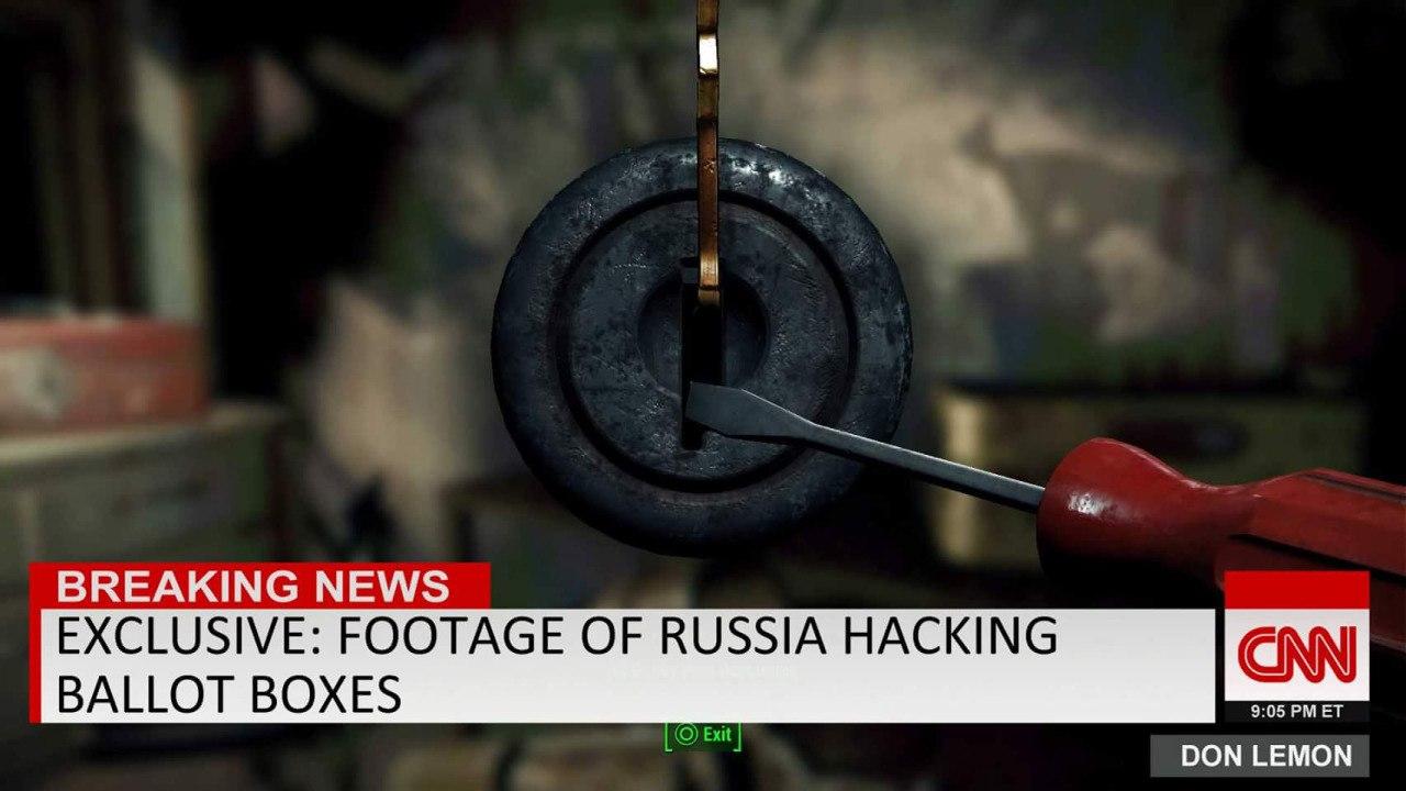 Эксклюзив: Кадры из России взлом урны для голосования.