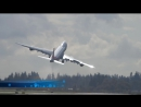 Cargolux 747-8 freighter (CLX789) crazy take off and wings swing-bye