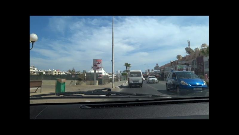 Кипр,вся Айя-Напа на машине,от Ниси Бич до выезда в сторону Мыса Греко