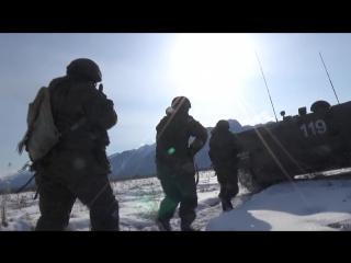 Проверка боевой готовности российской военной базы в Южной Осетии
