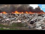 50 авто горит на свалке в США
