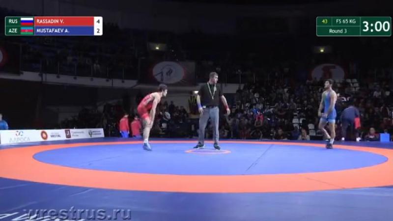 Кубок Алроса 2017, Москва - до 65 кг, Рассадин (Россия) - Мустафаев (Азербайджан)