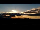 Запечатлил на видео красивый закат
