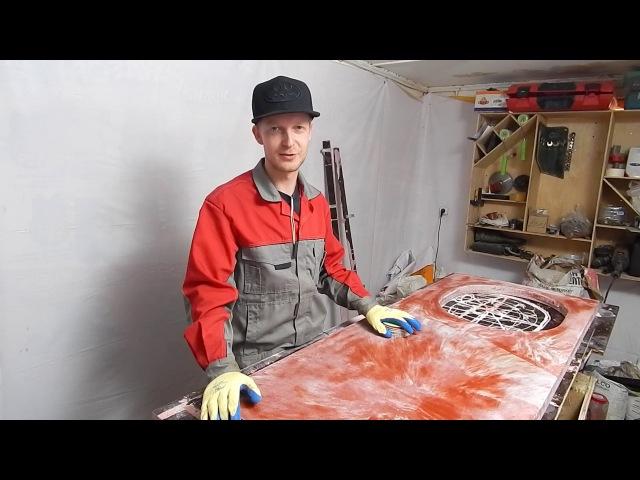 Как сделать кухонную столешницу из бетона. Часть 2. Concrete countertop diy.