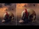 Making Skull Girl Manipulation Scene Effect In Photoshop CC