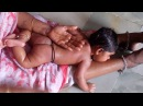 Baby Enjoys South India Traditional new born baby massage..