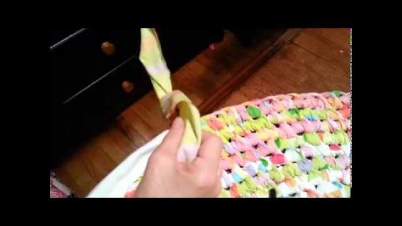 Toothbrush Rug: Making knots