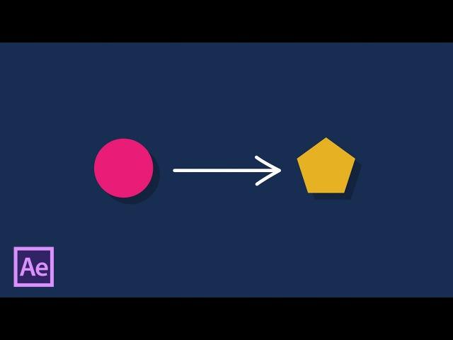 Анимация смены шейпов в After Effects (Simple Shape Layer Animation)