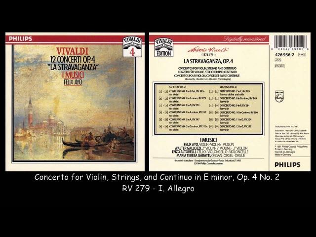 Vivaldi - La Stravaganza - 12 Concertos Op. 4 - I Musici - Felix Ayo - 1963
