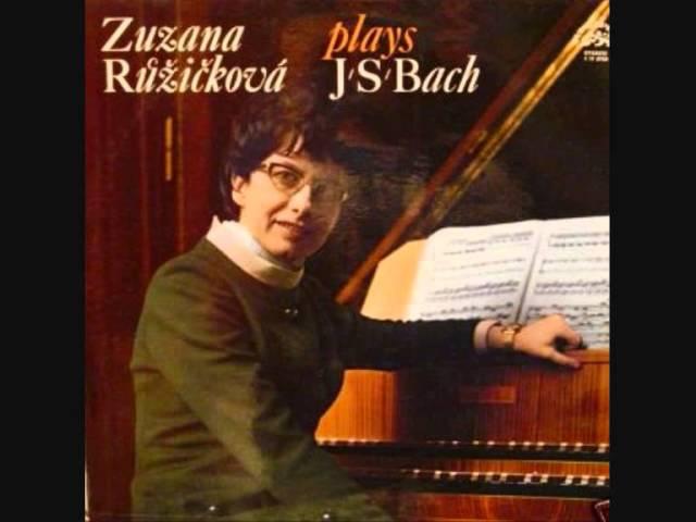Bach Aria variata alla Maniera Italiana BWV 989, Zuzana Růžičková