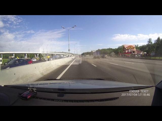Авария на ровном месте на МКАДе