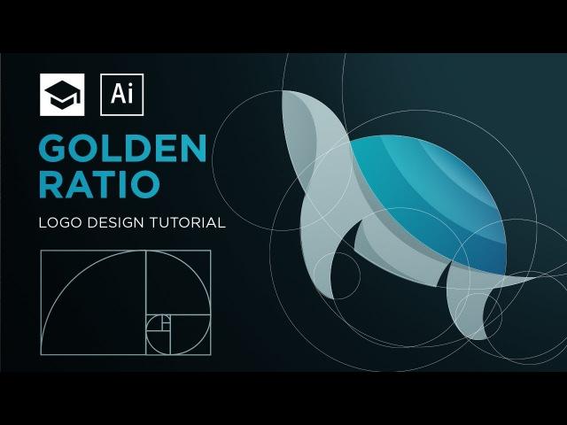 How to design a logo with golden Ratio   Adobe Illustrator Tutorial