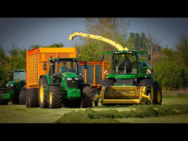 Gras häckseln 2017 | John Deere 8300i | 2xJohn Deere 6r | Veenhuis