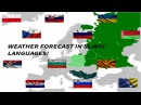 Weather Forecast in 12 Slavic Languages